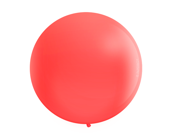 "Jumbo 36"" Round Latex Balloon - Red"