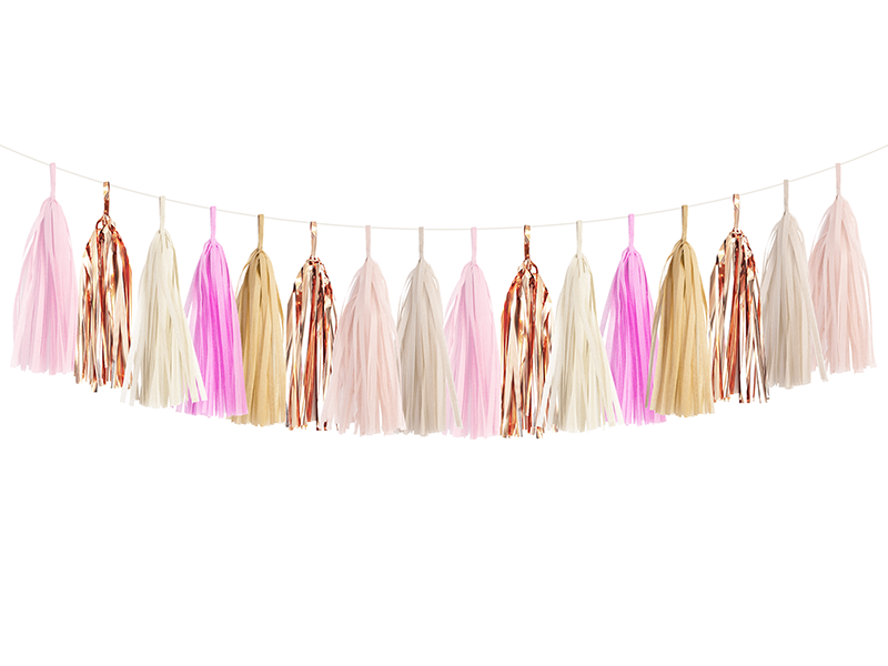 Natural Blush Tassel Garland Kit
