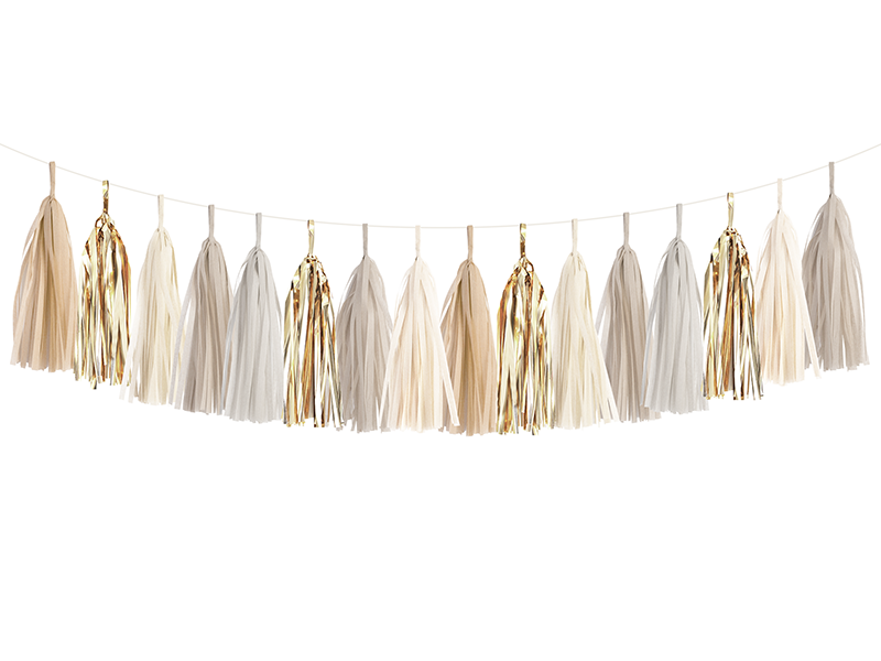 Champagne Gold Tassel Garland Kit