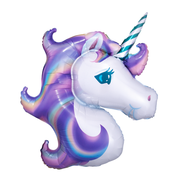 Large Unicorn Balloon - Purple 33""