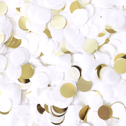 White & Gold Confetti Mix