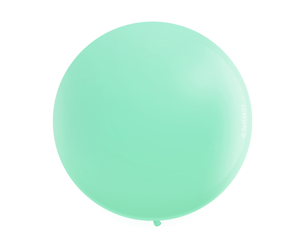 "Jumbo 36"" Round Latex Balloon - Wintergreen Mint"