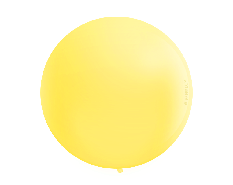 "Jumbo 36"" Round Latex Balloon - Yellow"