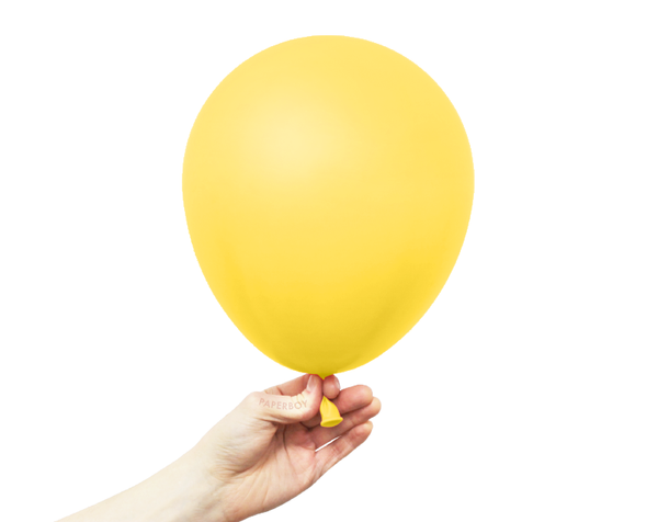 "11"" Solid Latex Balloons - Yellow"
