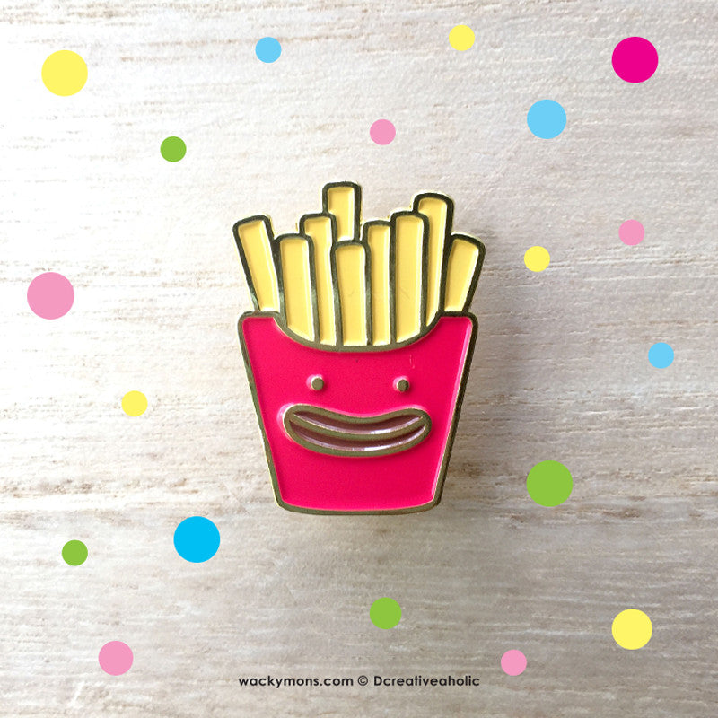French Fries Monster Pin