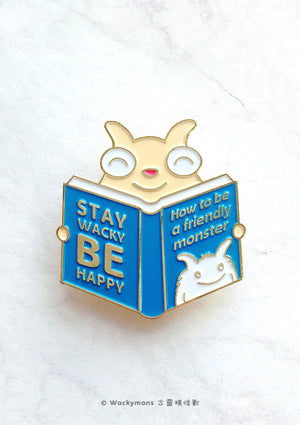 How To Be A Friendly Monster Brooch