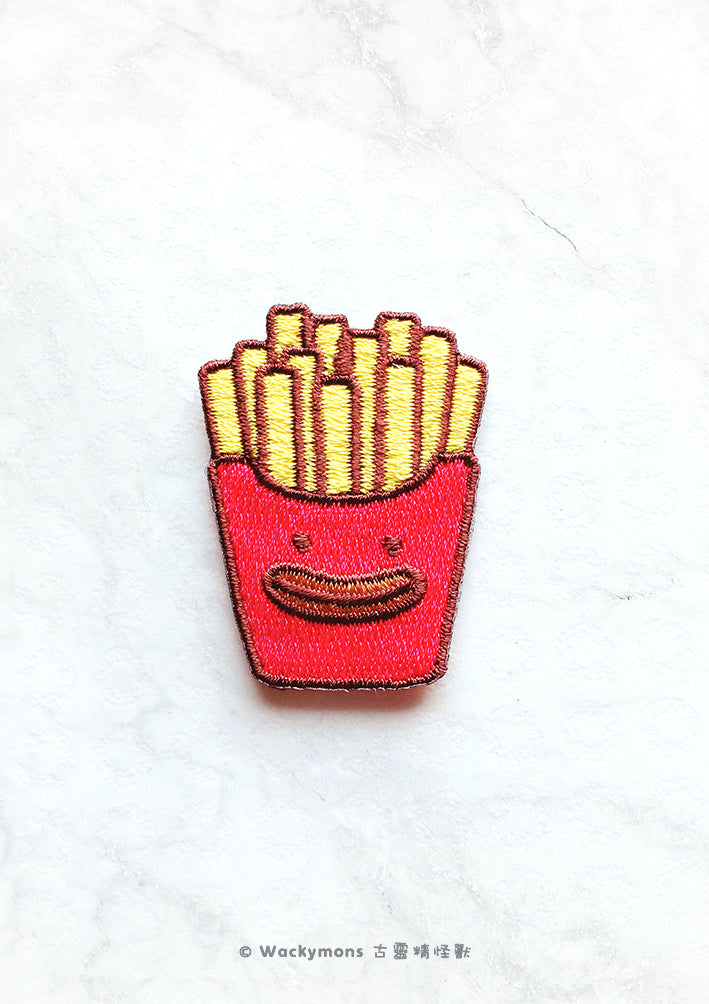 French Fries Monster Iron On Patch