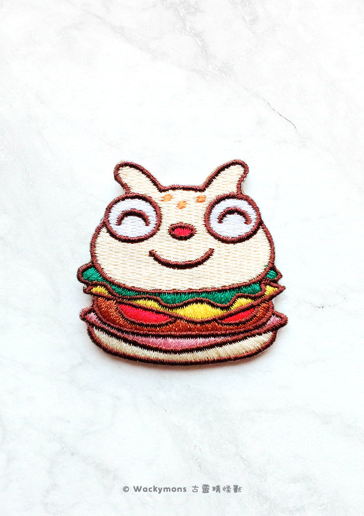 Lofing Burger Iron On Patch