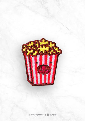Popcorn Monster Embroidery Pin