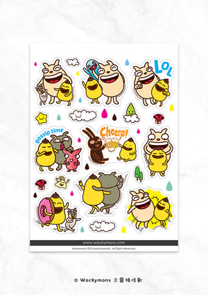 Wackymons Friendship Sticker