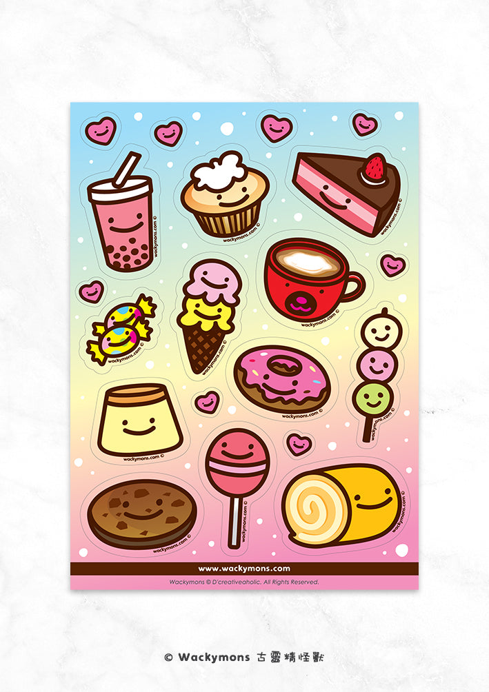 Smiling Dessert Sticker