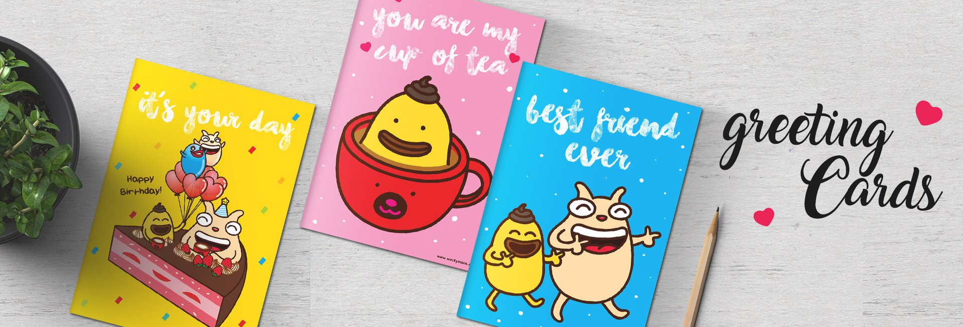 Wackymons new friendship greeting card designs available now!