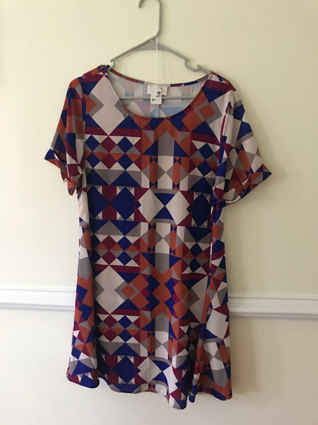 Everly Scoop Neck Dress Fall Pattern On Sale SIZE SMALL OR MEDIUM