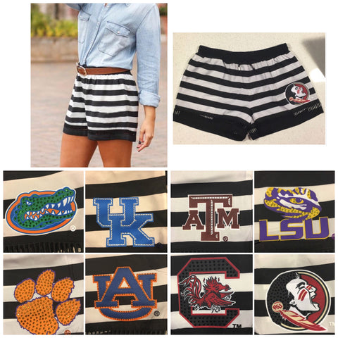 Gameday Couture Black Stripe Shorts - Team Spirit Shorts