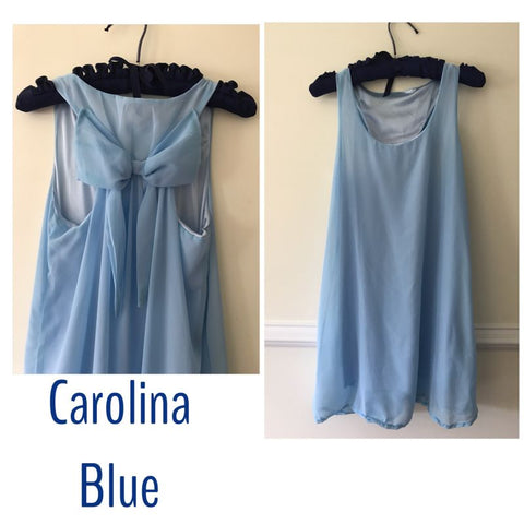 Carolina Blue Bow Back Dress - Kristin Dress Sale