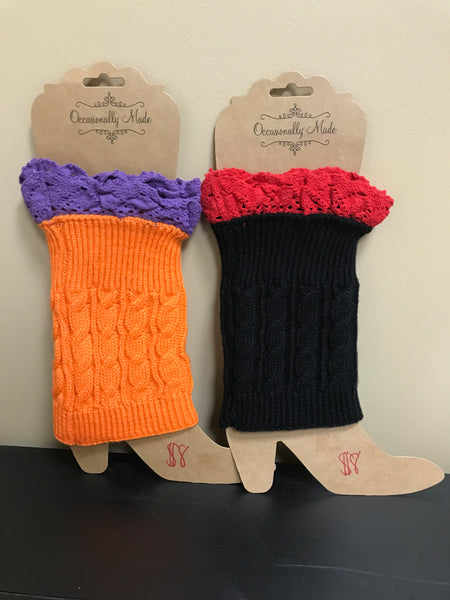 Occasionally Made Gameday Boot Cuffs ON SALE Boot Socks
