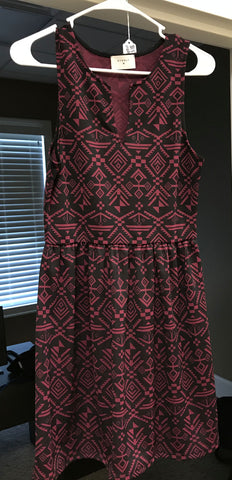 Everly Black and Garnet Dress Sale