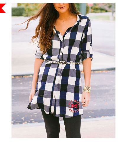 Gameday Couture On Sale Women's Plaid Tunic Dress