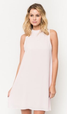 Everly High Neck Dress - Pink Samantha Dress