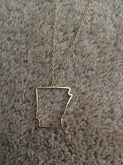 State Cut Out Necklace - State Cut Out Jewelry