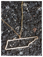 State Cut Out Necklace ON SALE  - State Cut Out Jewelry Sale