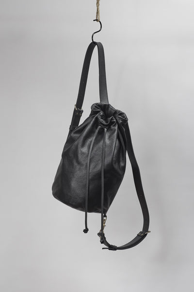 Amy Eliav Italian 100% leather backpack in black. Made in Melbourne