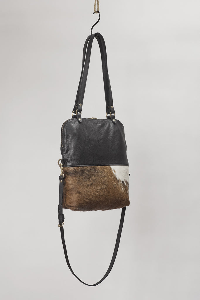 Amy Eliav Handbag. Italian leather with Calf hair. Made in Melbourne Australia & Auckland New Zealand