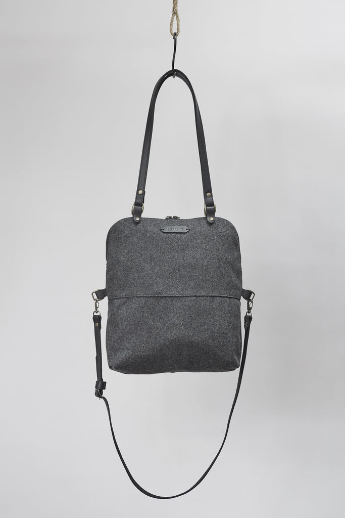 Amy Eliav Handbag Wool with 5mm Bovine Strapping . Made in Melbourne Australia & Auckland New Zealand