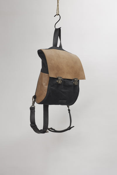 Amy Eliav Navigator Hemp/Leather backpack. Made in Melbourne Australia & Auckland New Zealand