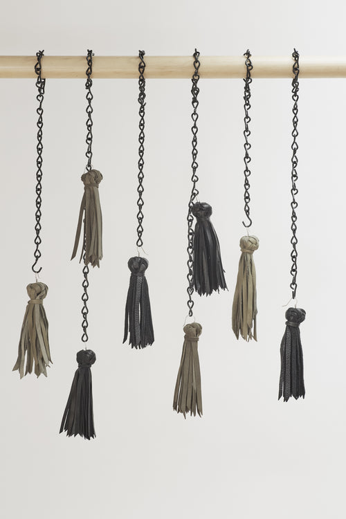 Tokyo Tassel Earrings Sterling Silver/Leather. Made in Melbourne Australia & Auckland New Zealand