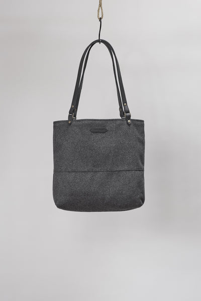 Amy Eliav Tote Wool with 5mm Bovine Strapping . Made in Melbourne Australia & Auckland New Zealand