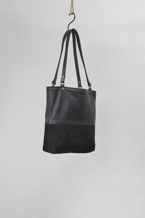 Amy Eliav Tote. Italian leather with Suede. Made in Melbourne Australia & Auckland New Zealand