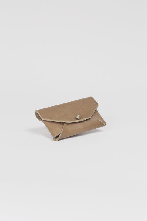 Amy Eliav Crane Wallet . Tan Bridle leather. Made in Melbourne Australia & Auckland New Zealand
