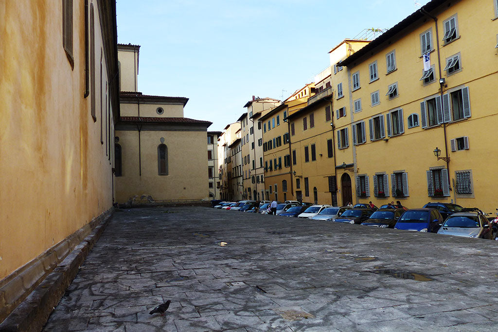 Yellow Buildings in Florence near Santo Spirito