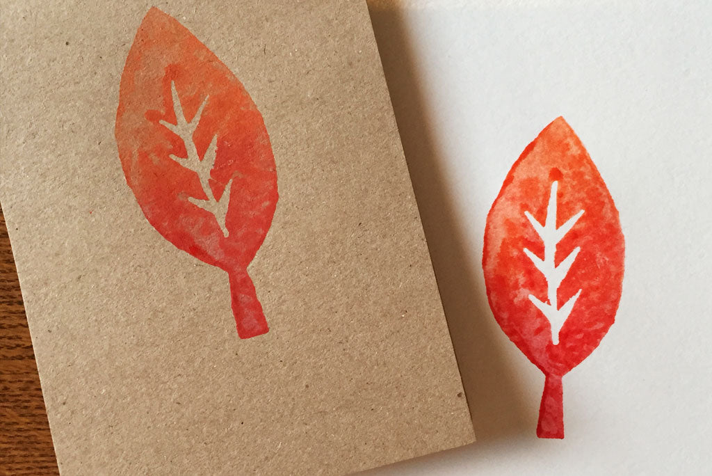 how to make a block print using a potato | Wandering Paper Co.
