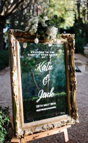 Custom Wedding Welcome Board