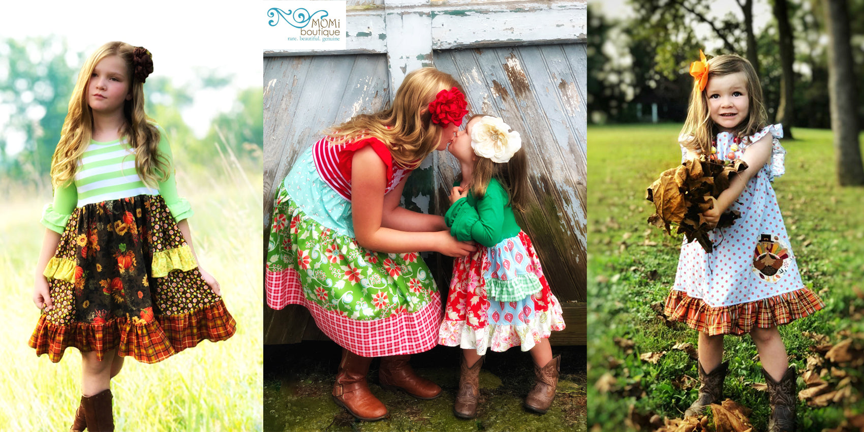 girls boutique Thanksgiving Christmas dresses