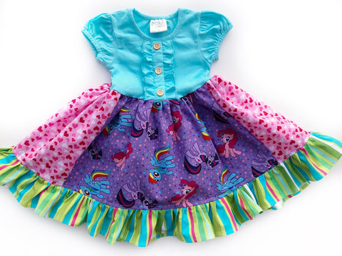 Rainbow pony friendship dress