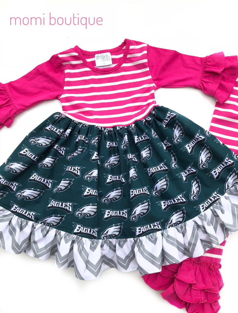 Sz 2/3 Long Sleeve Philadelphia Eagles dress