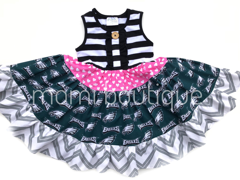 sz 2/3 RTS Philadelphia Eagles Twirl dress