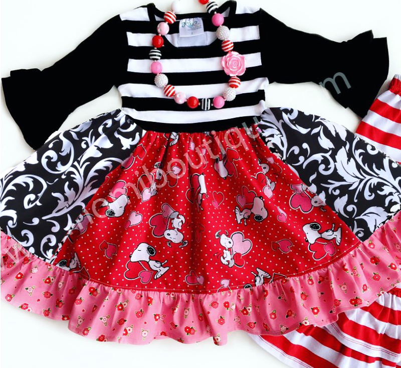 Valentine Snoopy dress