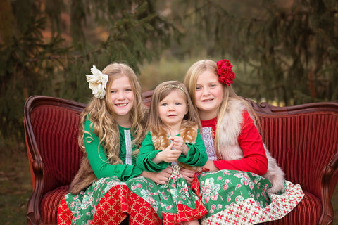 girls Christmas portrait dress