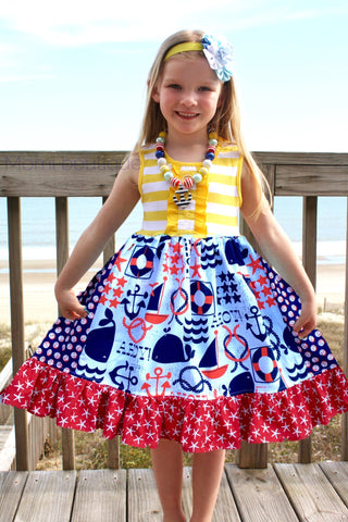 Ahoy Nautical beach dress