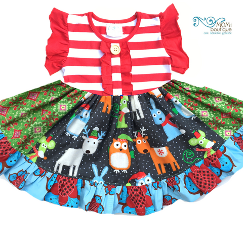 Festive Woodland dress Christmas in July