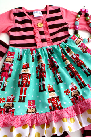 The Nutcracker Pink/Brown dress