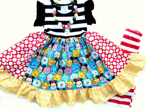 Tsum tsum flutter sleeve dress