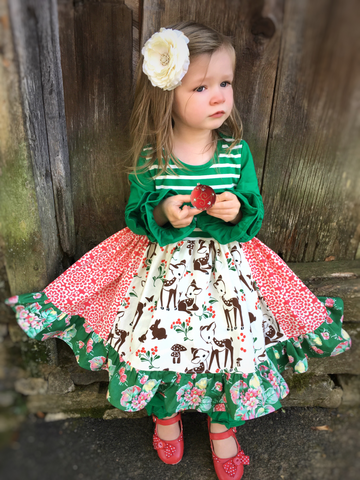 girls holiday portrait dress
