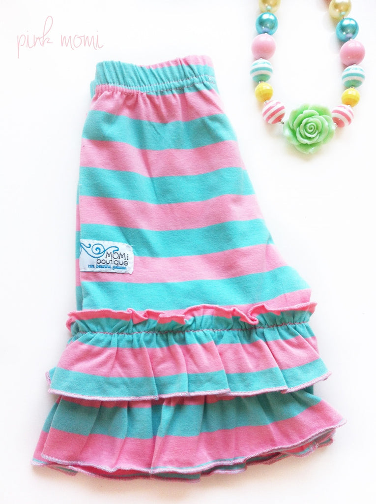 Cotton Candy double ruffle shorts