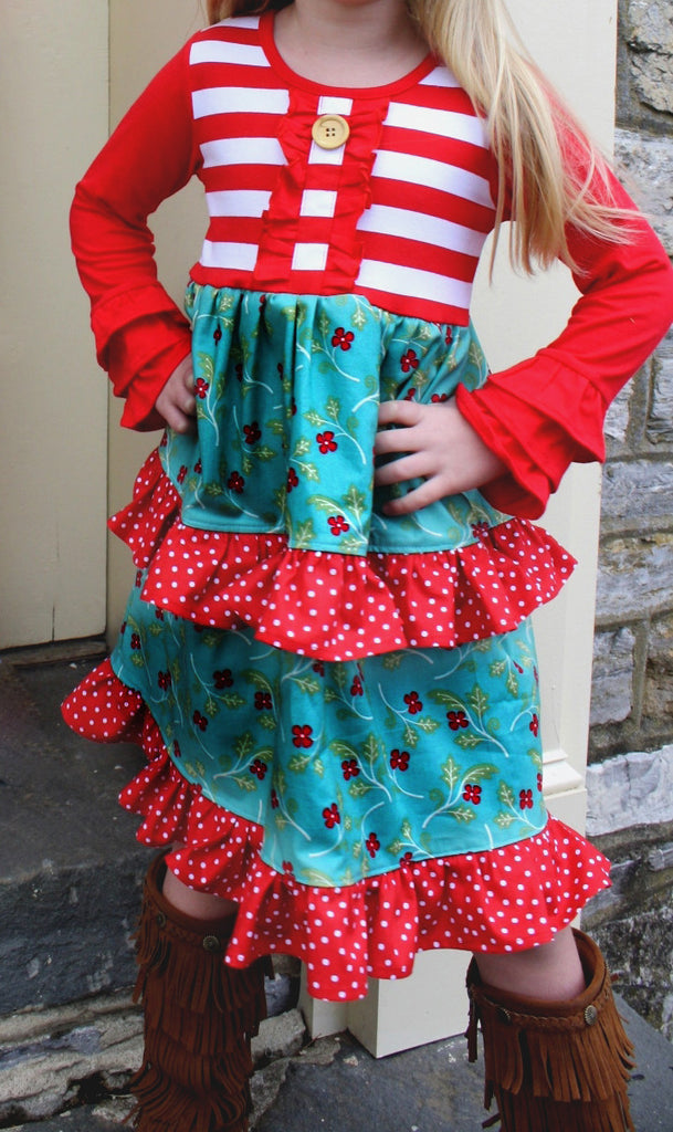 Vintage Turquoise Holiday dress