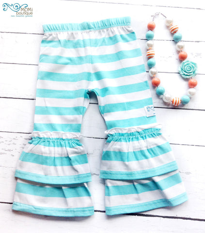 Blue Sky double ruffle pants